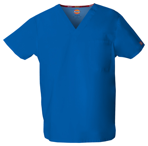 Dickies EDS Signature Unisex V-Neck Top in Royal