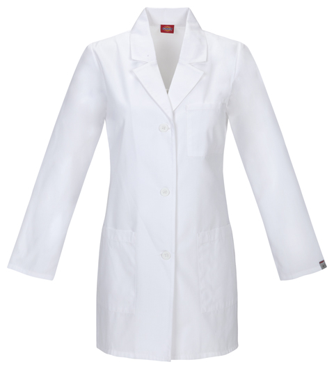"Dickies Professional Whites 32"" Lab Coat in White"