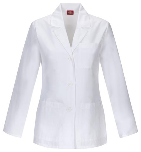 "Dickies Dickies Prof. Whites Women's 28"" Lab Coat White"