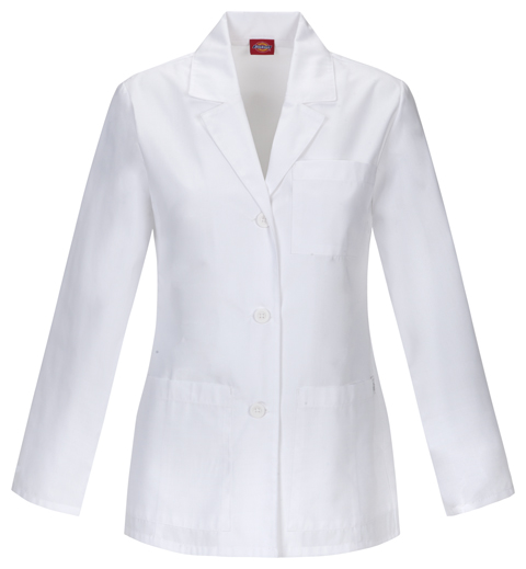 "Dickies Professional Whites 28"" Lab Coat in White"