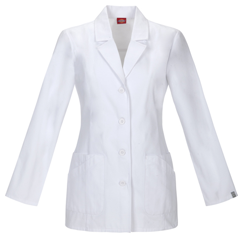 "Dickies Professional Whites 29"" Lab Coat in White"