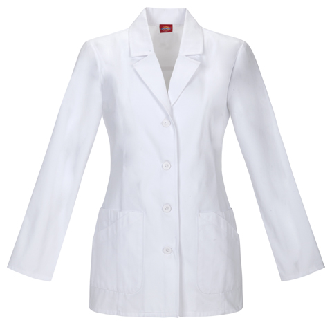 "Dickies Prof. Whites Women's 29"" Lab Coat White"