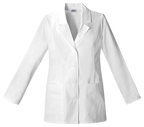 "Dickies Dickies Prof. Whites Women's 29"" Lab Coat White"