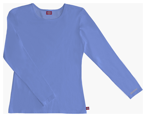 Dickies Solids Women's Long Sleeve Underscrub Knit Tee Blue