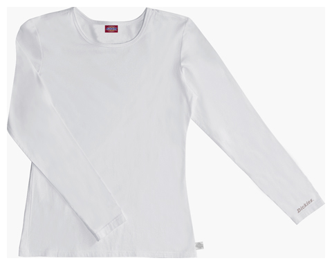 Dickies Solids Women's Long Sleeve Crew Neck Tee White