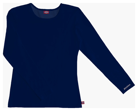 Dickies Solids Women's Long Sleeve Crew Neck Tee Blue