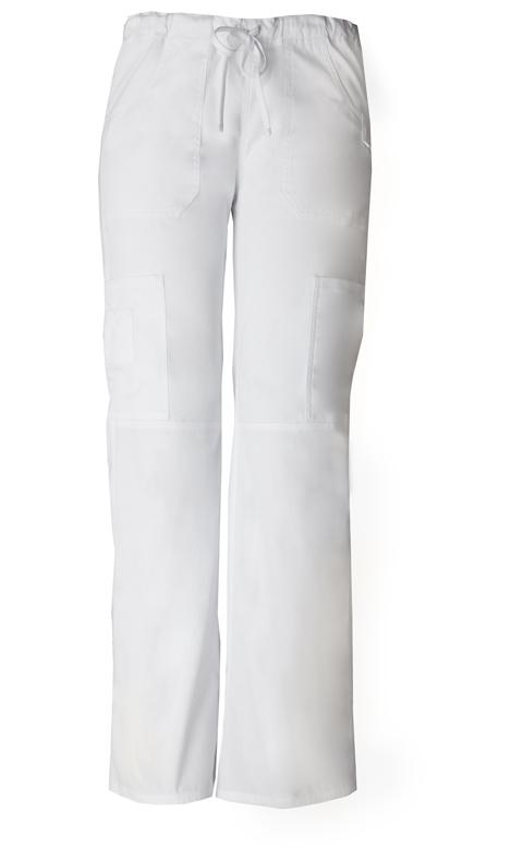 Dickies Dickies EDS Signature Women's Low Rise Drawstring Cargo Pant White