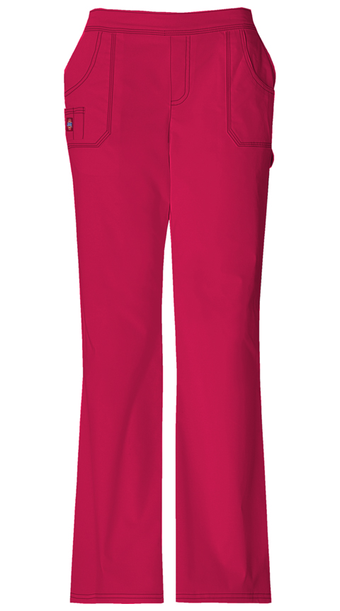 Dickies Gen Flex Women's Mid Rise Pull-On Pant Red