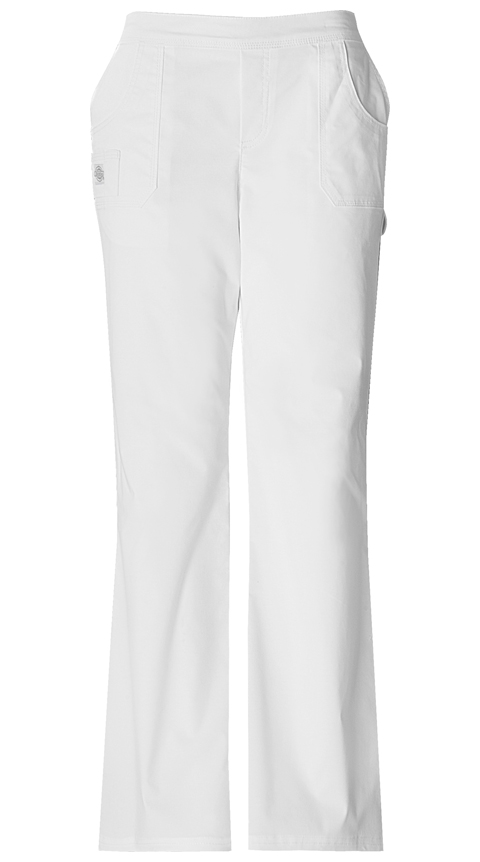 Dickies Gen Flex Women's Mid Rise Pull-On Pant White
