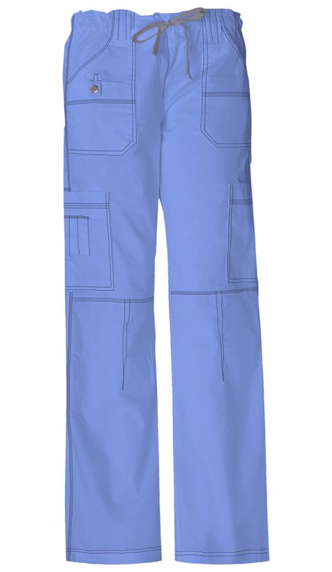 Dickies Gen Flex Women's Low Rise Drawstring Cargo Pant Blue