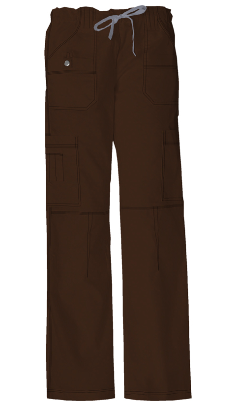 Dickies Gen Flex Women's Low Rise Drawstring Cargo Pant Brown