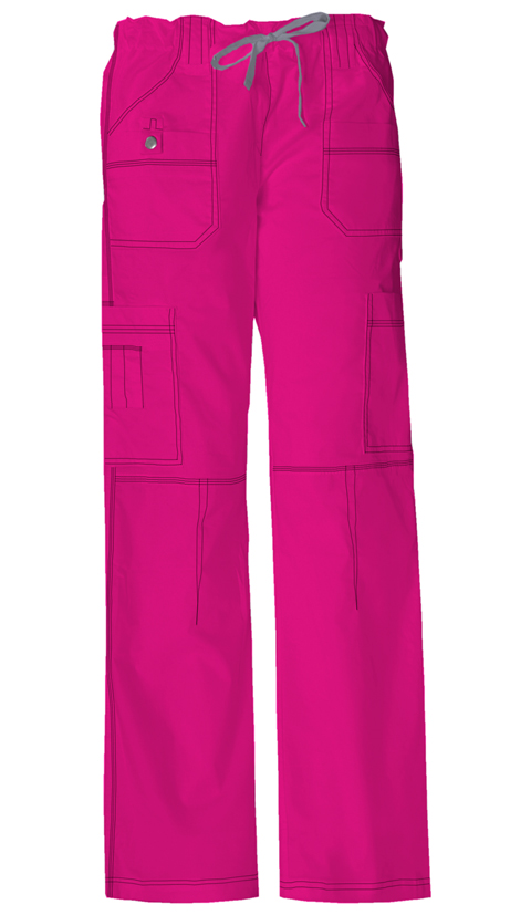 Gen Flex Women's Jr. Fit Low Rise Drawstring Cargo Pant Pink