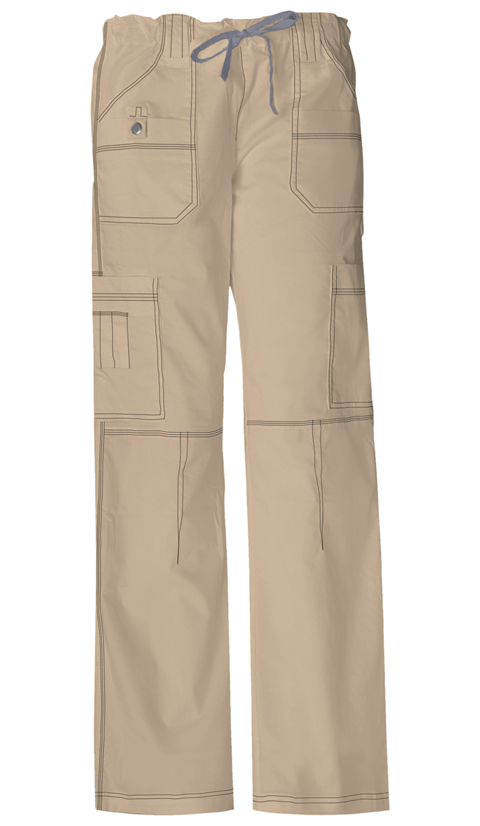 Dickies Gen Flex Women's Jr. Fit Low Rise Drawstring Cargo Pant Khaki