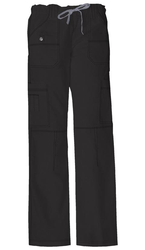 Gen Flex Women's Jr. Fit Low Rise Drawstring Cargo Pant Black