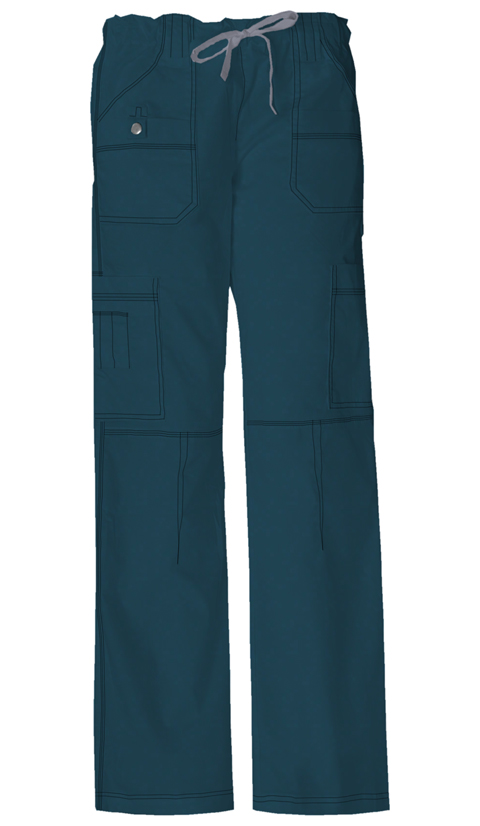 Gen Flex Women's Jr. Fit Low Rise Drawstring Cargo Pant Blue