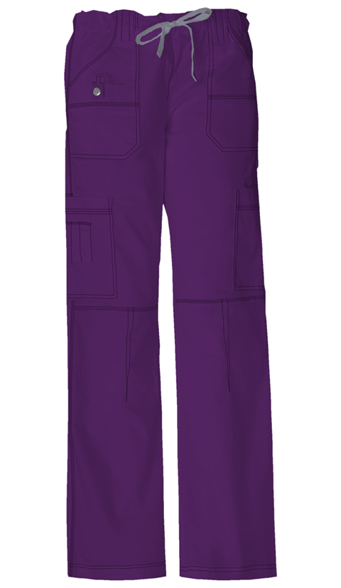 Dickies Gen Flex Women's Jr. Fit Low Rise Drawstring Cargo Pant Purple