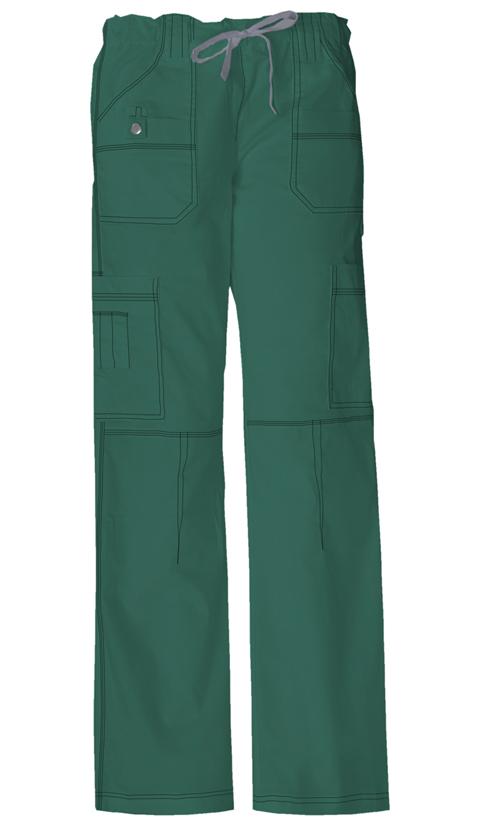 Dickies Gen Flex Women's Low Rise Drawstring Cargo Pant Green