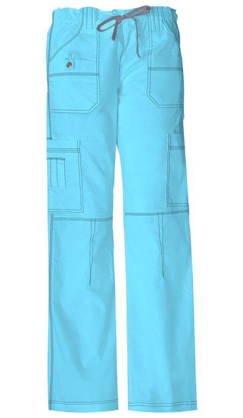 Dickies Gen Flex Women's Jr. Fit Low Rise Drawstring Cargo Pant Blue