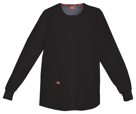 Dickies Dickies EDS Signature Women's Snap Front Warm-Up Jacket Black
