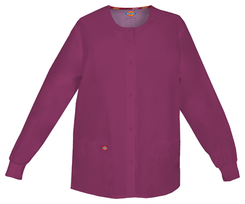 Dickies Dickies EDS Signature Women's Snap Front Warm-Up Jacket Red