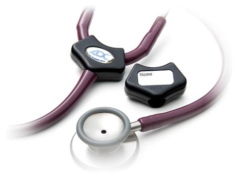 ADC Unisex Premium Stethoscope ID Tag Black