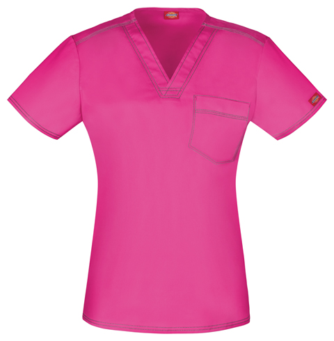 Dickies Dickies Gen Flex Unisex Unisex V-Neck Top Pink