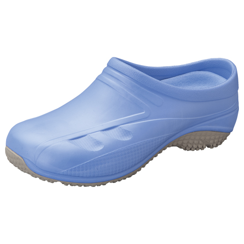 Anywear Medical Footwear Unisex Slip Resistant Injected Closed Back Clog Blue