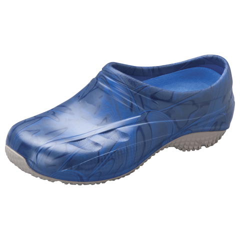 Anywear Medical Footwear Unisex Slip Resistant Injected Closed Back Clog Navy Swirl