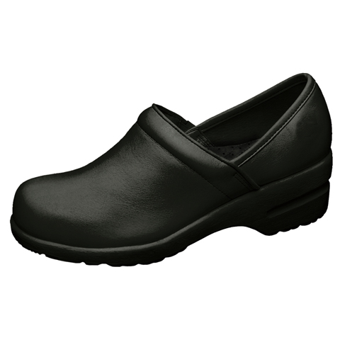 Cherokee Workwear Medical Footwear Women's Step In, Padded Collar Footwear Black
