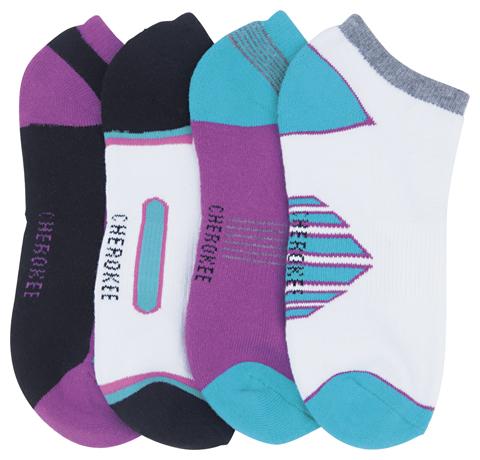 Cherokee Women's 1-4pr packs of No Show Socks Assorted Assorted