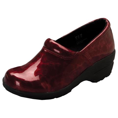 Cherokee Medical Footwear Women's SR Fashion Leather Step In Footwear Red