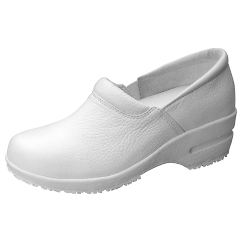 Cherokee Medical Footwear Women's SR Fashion Leather Step In Footwear White