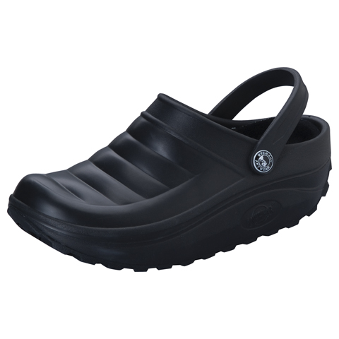Anywear Medical Footwear Unisex Injected High Lobe Clog Black