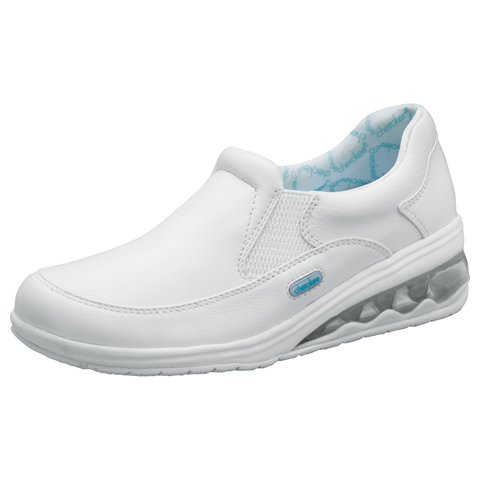 Cherokee Medical Footwear Women's Leather Step In Footwear White