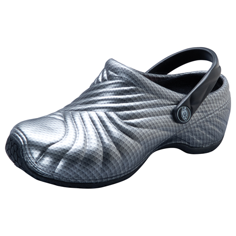 Dickies Medical Footwear Unisex Injected Clog w/ backstrap Chrome Grey