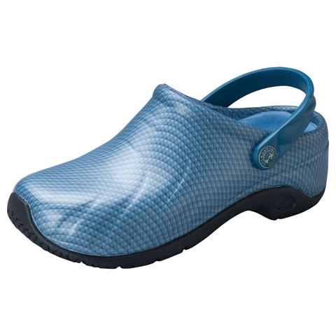 Anywear Medical Footwear Unisex Anywear Injected Clog w/Backstrap Caribbean Chrome