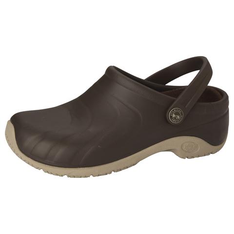 Anywear Medical Footwear Unisex Anywear Injected Clog w/Backstrap Brown